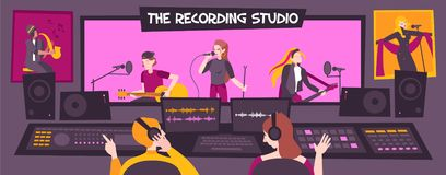 Free Recording Studio Composition Stock Images - 163970974