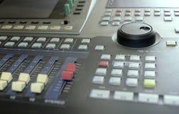 Recording Studio Console Stock Images