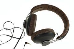 Recording studio headphones. Isolated on white background Royalty Free Stock Photography