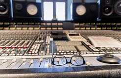 Recording studio inside Royalty Free Stock Photography