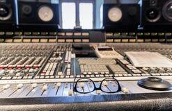 Recording studio inside. Break in audio studio recording Royalty Free Stock Photography