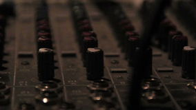 A recording studio Insrument for Disc Jokeys stock footage