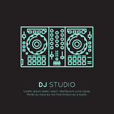 Recording Studio Labels Set Stock Photos