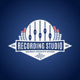 Recording Studio Logo Royalty Free Stock Photography