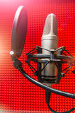 Recording studio microphone Royalty Free Stock Photo