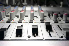 Recording studio/mixer Royalty Free Stock Images