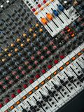 Recording studio mixing board stock images