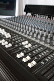Recording studio mixing console Royalty Free Stock Images