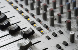 Recording Studio Mixing Console royalty free stock image