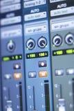 Recording studio mixing desk Royalty Free Stock Image