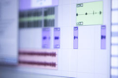 Recording studio mixing desk Royalty Free Stock Photography