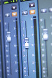 Recording studio mixing desk Royalty Free Stock Images