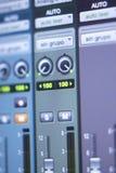Recording studio mixing desk Stock Image