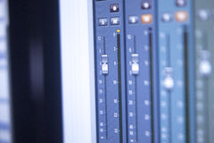 Recording studio mixing desk Royalty Free Stock Photography