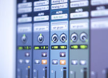 Recording studio mixing desk Royalty Free Stock Photo