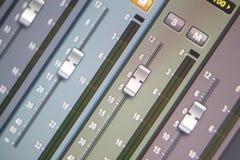 Recording studio mixing desk Stock Images