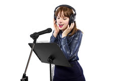 Recording Voice Overs or Singing Stock Photos