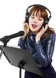 Recording Voice Overs or Singing Royalty Free Stock Photography