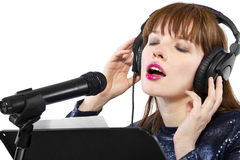 Recording Voice Overs or Singing Royalty Free Stock Photo