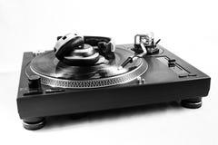 Recordplayer com registro Fotos de Stock