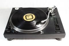 Recordplayer com registro preto Fotos de Stock