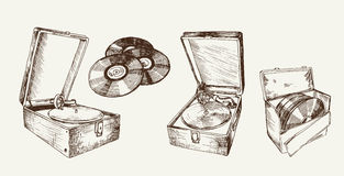 Recordplayer Royalty Free Stock Photography