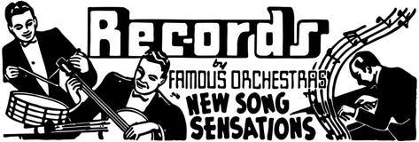 Records 2 Royalty Free Stock Photo