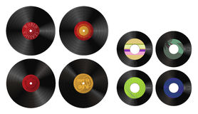 Records. A collection of various records stock illustration