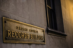 Records Building Sign Stock Photos