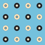 Records and CDs vector seamless pattern Royalty Free Stock Image