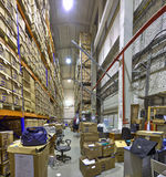 Records document boxes, warehouse secure storage system. Royalty Free Stock Photo