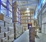 Records management and document storage solutions, warehouse sec. St. Petersburg, Russia - December 3, 2013: Secure document storage facility, record storage Stock Image