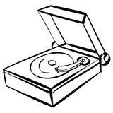 Records player outline Royalty Free Stock Image