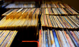 Records. In a Record Store Stock Photo