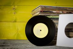 Records Stacked Stock Photography