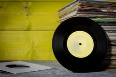 Records Stacked Royalty Free Stock Photography
