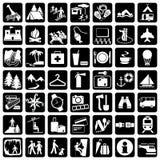 Recorrido de los iconos ilustración del vector