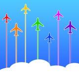 Recorrido del aeroplano ilustración del vector