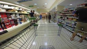 Recorrido del supermercado de FPV almacen de metraje de vídeo