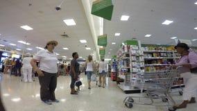 Recorrido del supermercado de FPV almacen de video