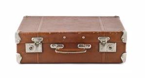 Recorrido - maleta rasguñada pasada de moda (tronco) Imagenes de archivo