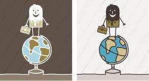 Recorrido y historieta coloreada asunto stock de ilustración