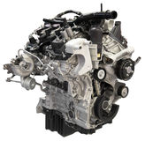 Recorte auto del motor del motor del coche aislado imagenes de archivo