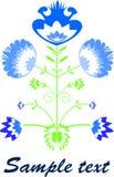 Recorte azul Imagenes de archivo