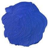 Recorte azul de la mancha blanca /negra de la pintura Imagen de archivo
