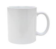 Recorte blanco de la taza Fotografía de archivo libre de regalías