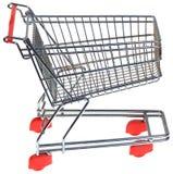 Recorte de la carretilla de las compras Foto de archivo libre de regalías