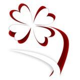 Recorte de la flor de papel en fondo rojo Imagen de archivo libre de regalías