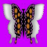 Recorte de la mariposa Foto de archivo