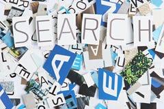 Recorte de la palabra de búsqueda del papel fotos de archivo libres de regalías